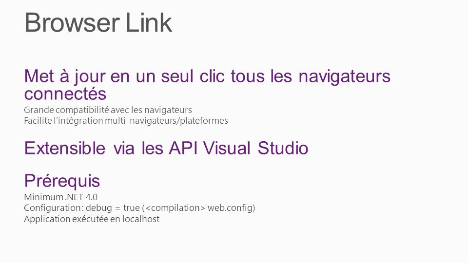 Browser Link Met à jour en un seul clic tous les navigateurs connectés