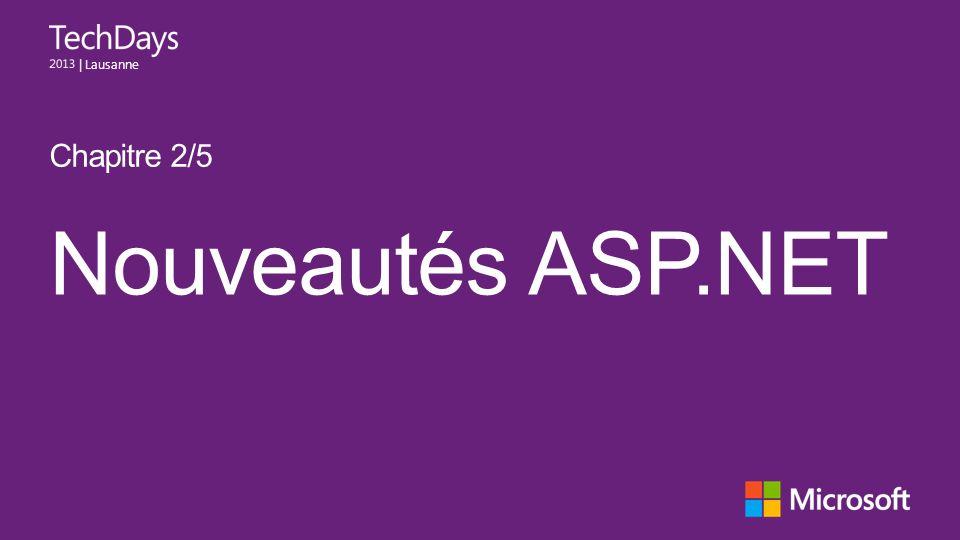 Chapitre 2/5 Nouveautés ASP.NET