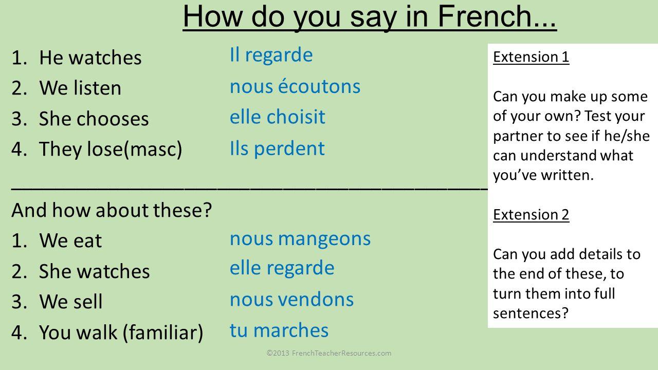 ©2013 FrenchTeacherResources.com