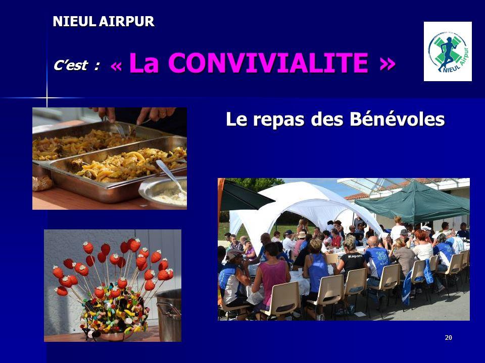 NIEUL AIRPUR « La CONVIVIALITE » C'est : Le repas des Bénévoles