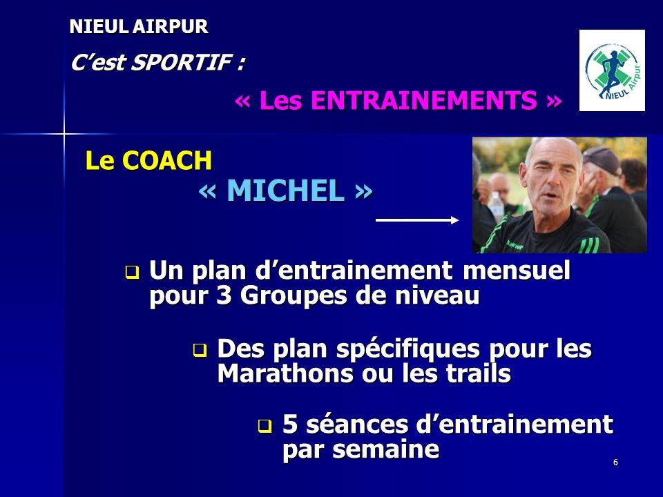 « MICHEL » « Les ENTRAINEMENTS » Le COACH