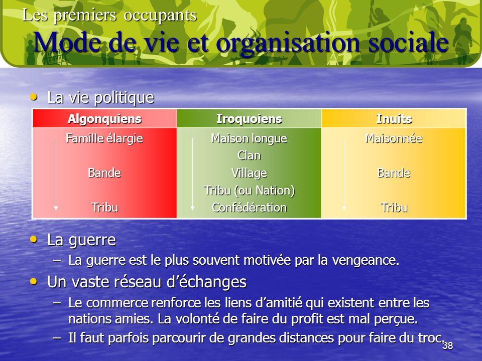 Mode de vie et organisation sociale