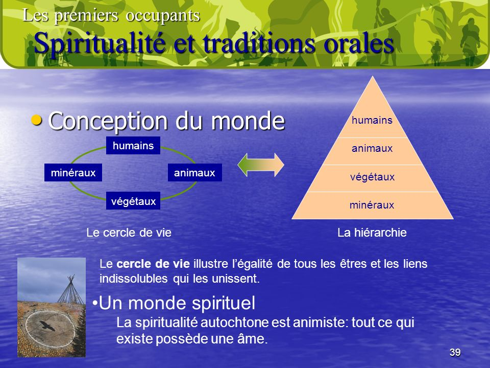 Spiritualité et traditions orales