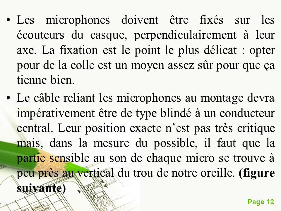Les microphones doivent être fixés sur les écouteurs du casque, perpendiculairement à leur axe. La fixation est le point le plus délicat : opter pour de la colle est un moyen assez sûr pour que ça tienne bien.