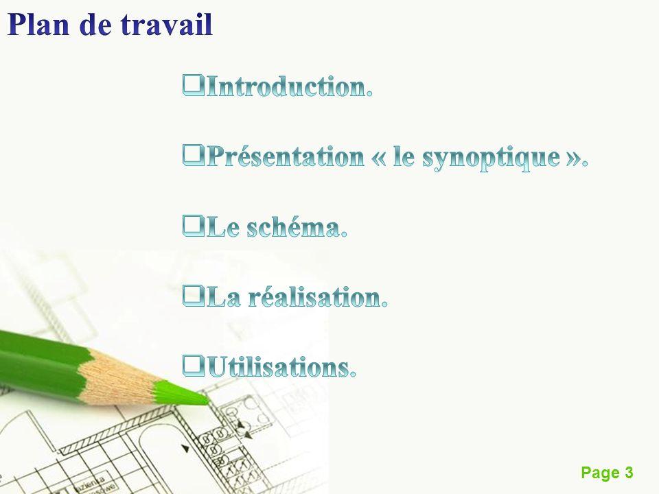 Plan de travail Introduction. Présentation « le synoptique ».