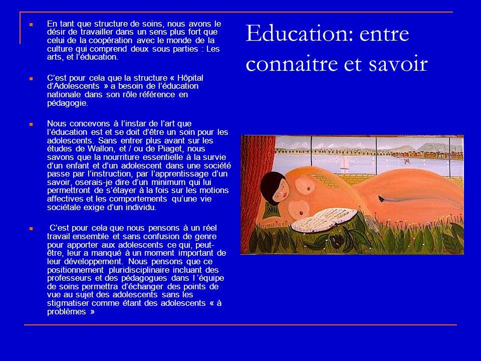 Education: entre connaitre et savoir