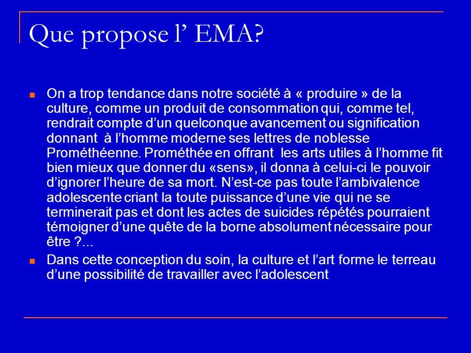 Que propose l' EMA
