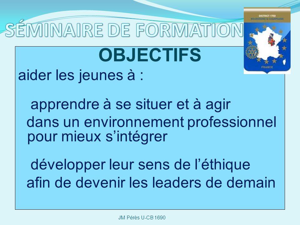 SÉMINAIRE DE FORMATION