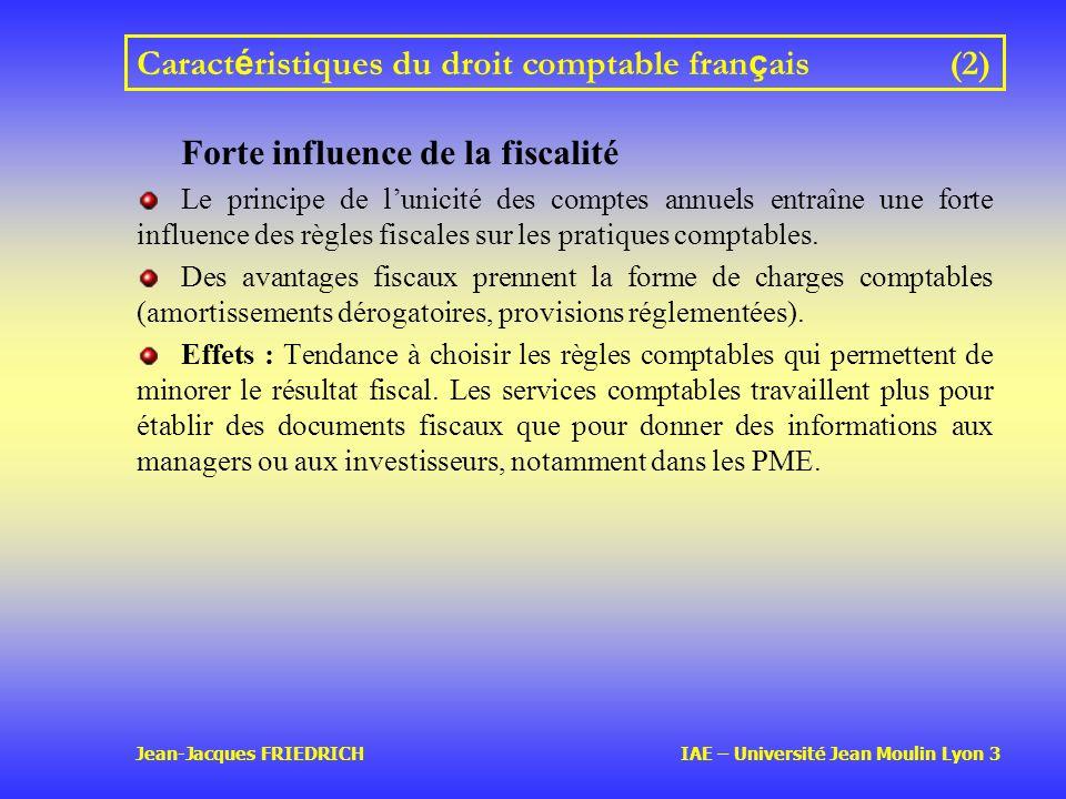 Caractéristiques du droit comptable français (2)