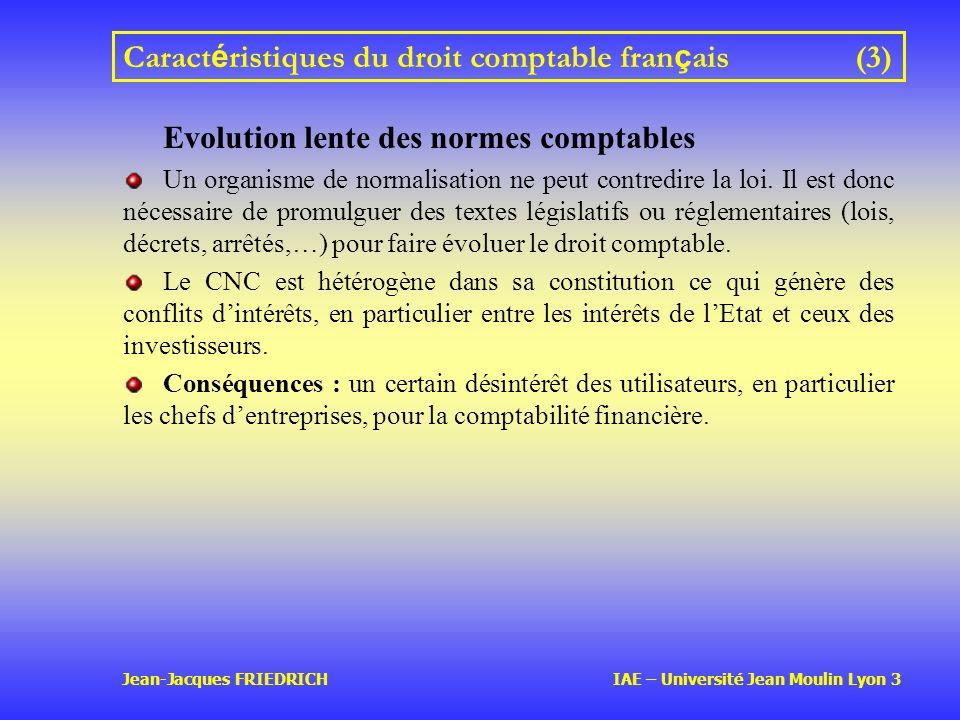 Caractéristiques du droit comptable français (3)