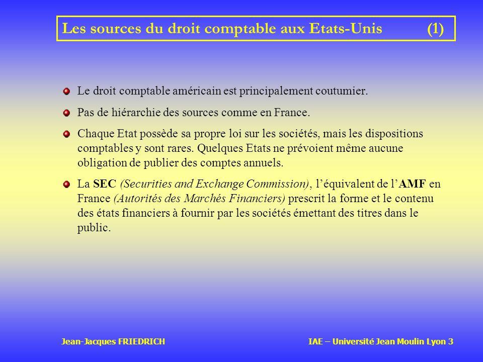 Les sources du droit comptable aux Etats-Unis (1)