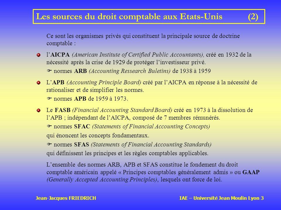 Les sources du droit comptable aux Etats-Unis (2)