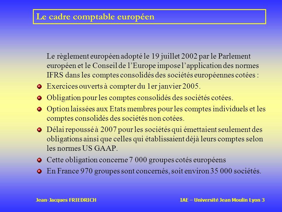 Le cadre comptable européen