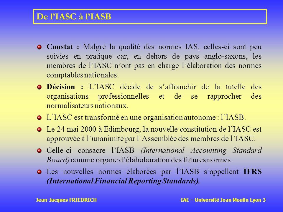 De l'IASC à l'IASB