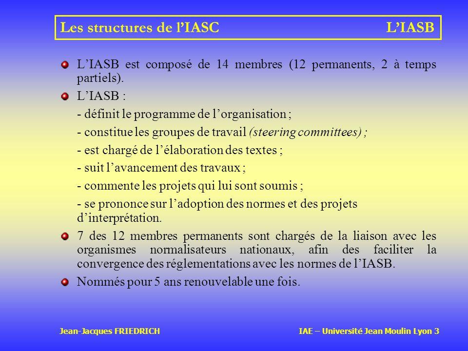 Les structures de l'IASC L'IASB