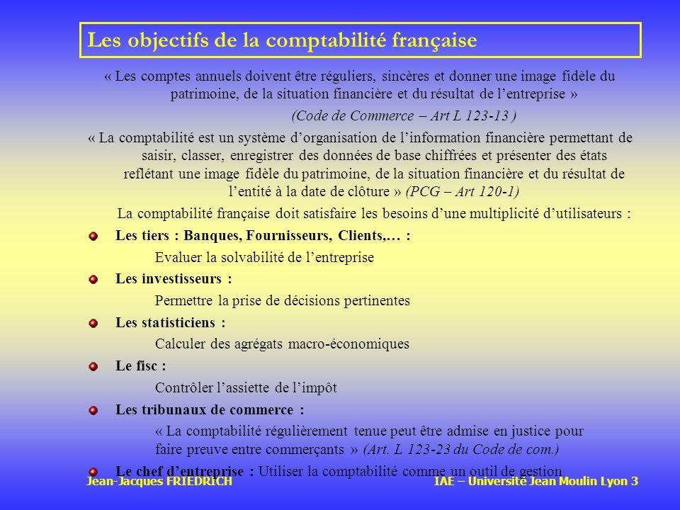 Les objectifs de la comptabilité française