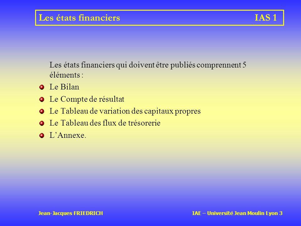 Les états financiers IAS 1