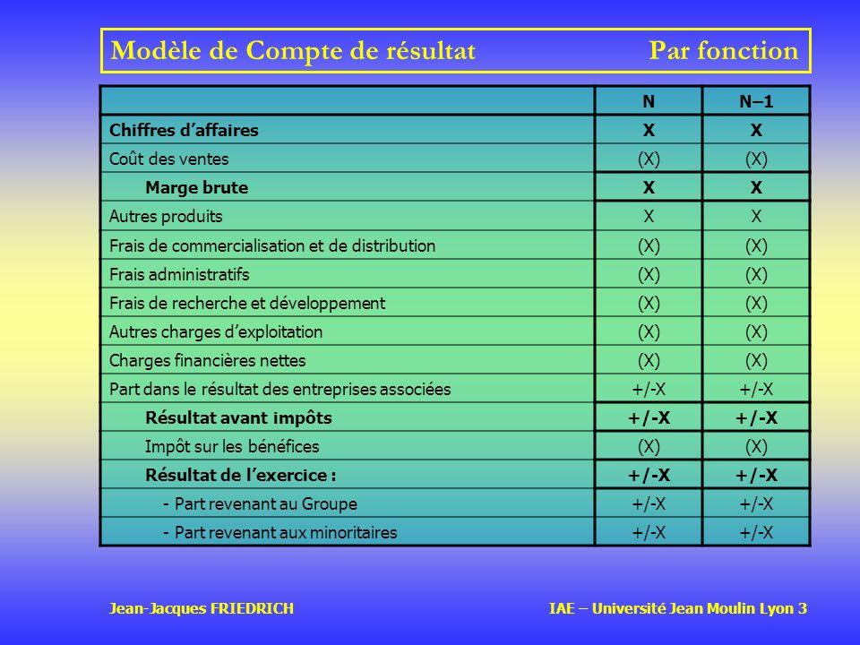 Modèle de Compte de résultat Par fonction