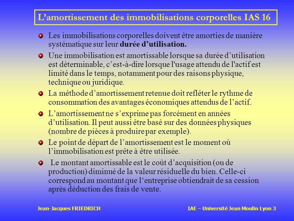 L'amortissement des immobilisations corporelles IAS 16