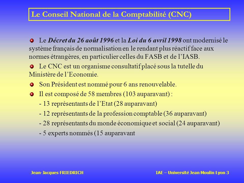 Le Conseil National de la Comptabilité (CNC)