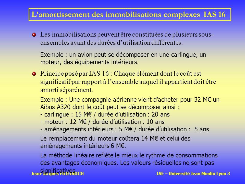 L'amortissement des immobilisations complexes IAS 16