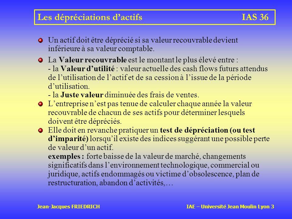 Les dépréciations d'actifs IAS 36