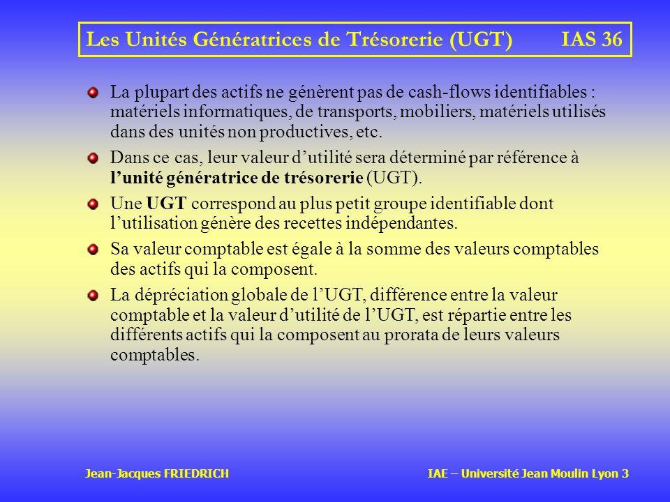 Les Unités Génératrices de Trésorerie (UGT) IAS 36