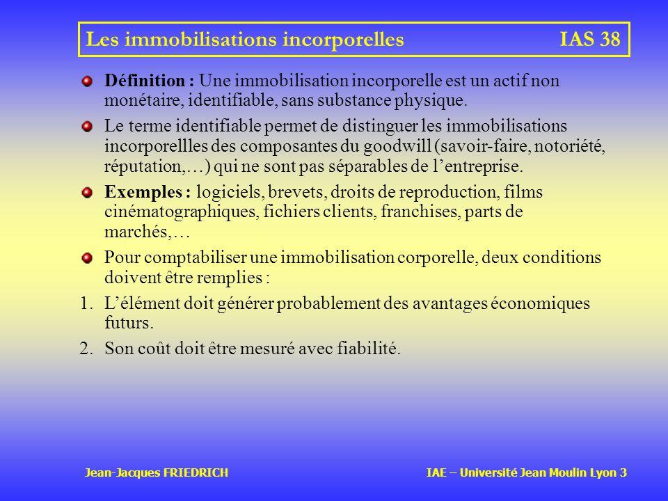Les immobilisations incorporelles IAS 38
