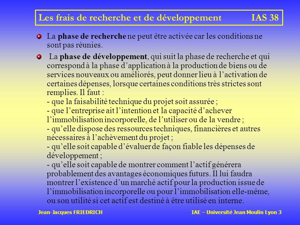 Les frais de recherche et de développement IAS 38