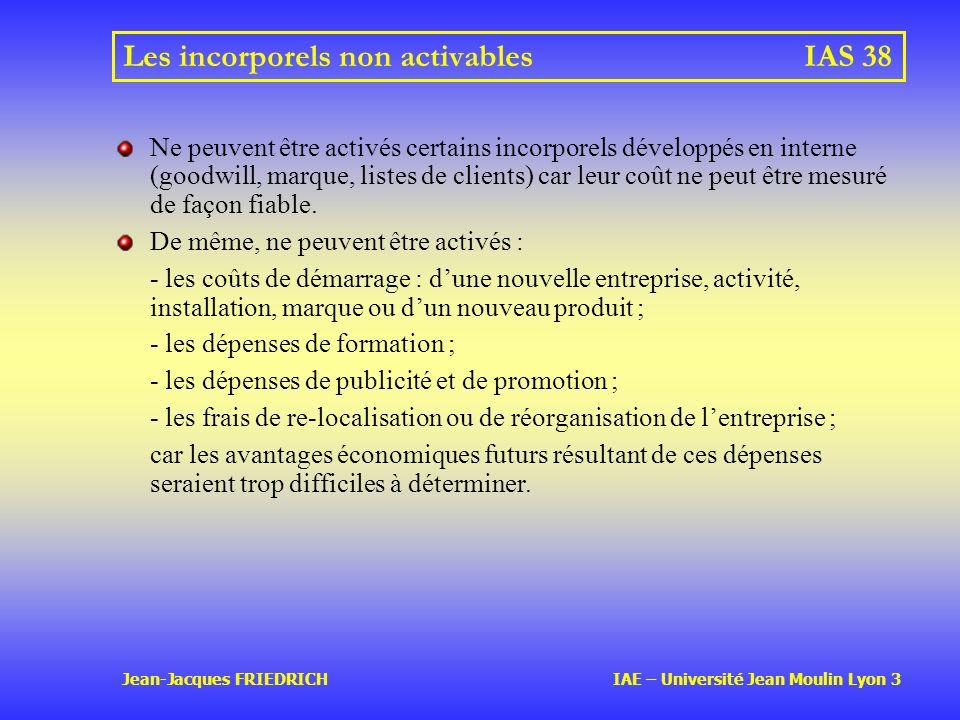 Les incorporels non activables IAS 38