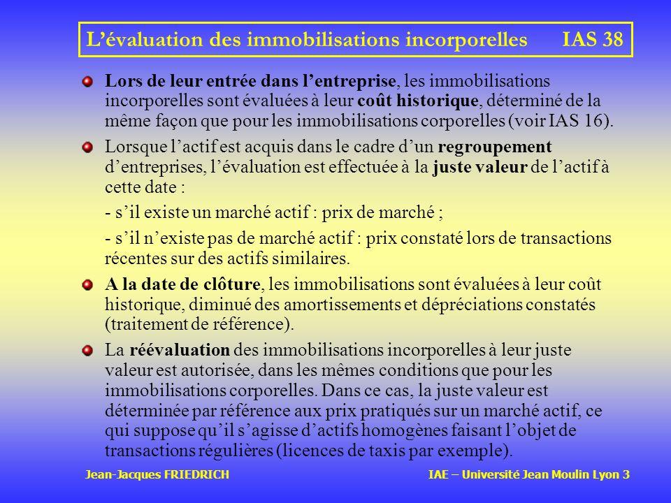 L'évaluation des immobilisations incorporelles IAS 38