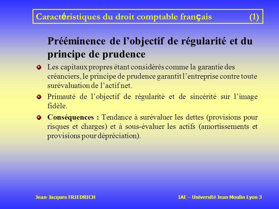 Caractéristiques du droit comptable français (1)