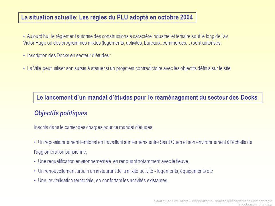 La situation actuelle: Les règles du PLU adopté en octobre 2004