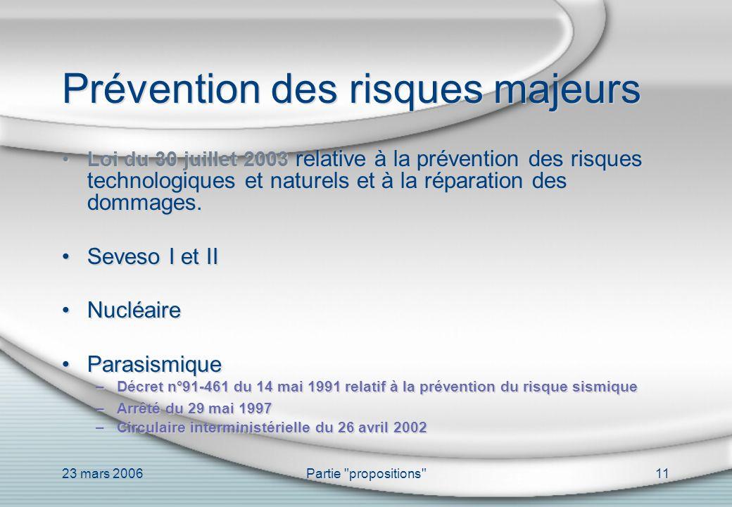 Prévention des risques majeurs