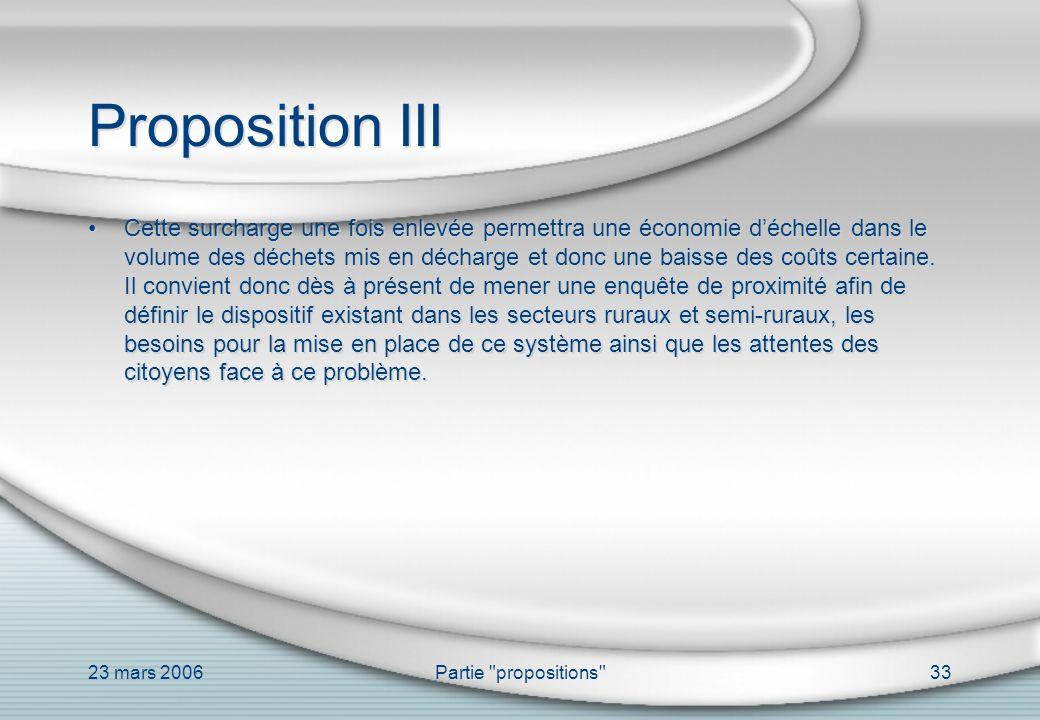 Proposition III