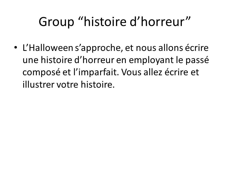 Group histoire d'horreur