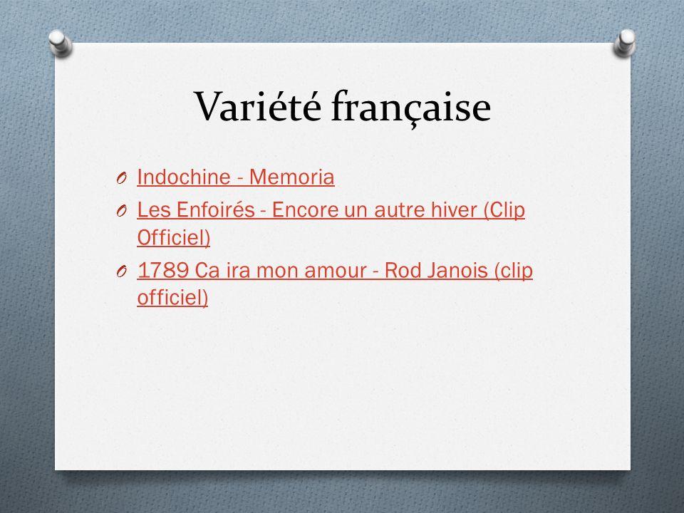 Variété française Indochine - Memoria