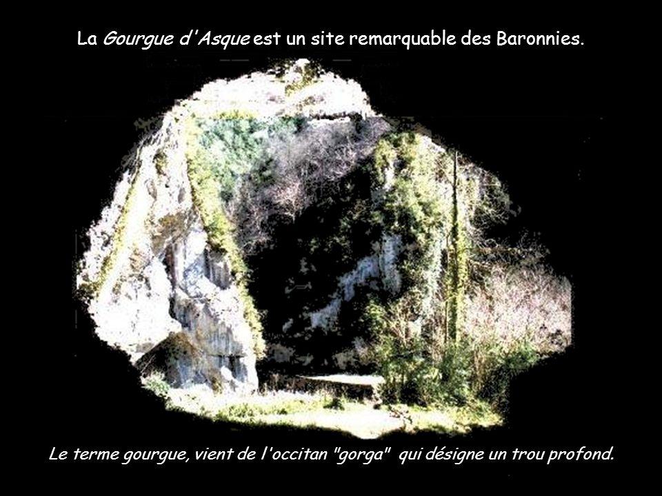 La Gourgue d Asque est un site remarquable des Baronnies.