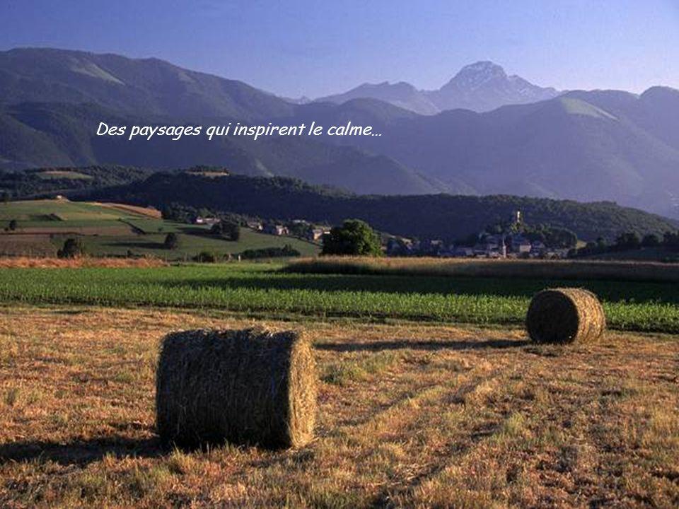 Des paysages qui inspirent le calme…