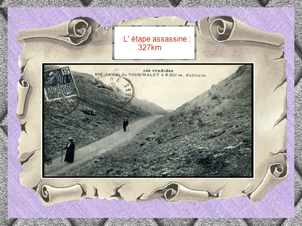 L étape assassine : 327km