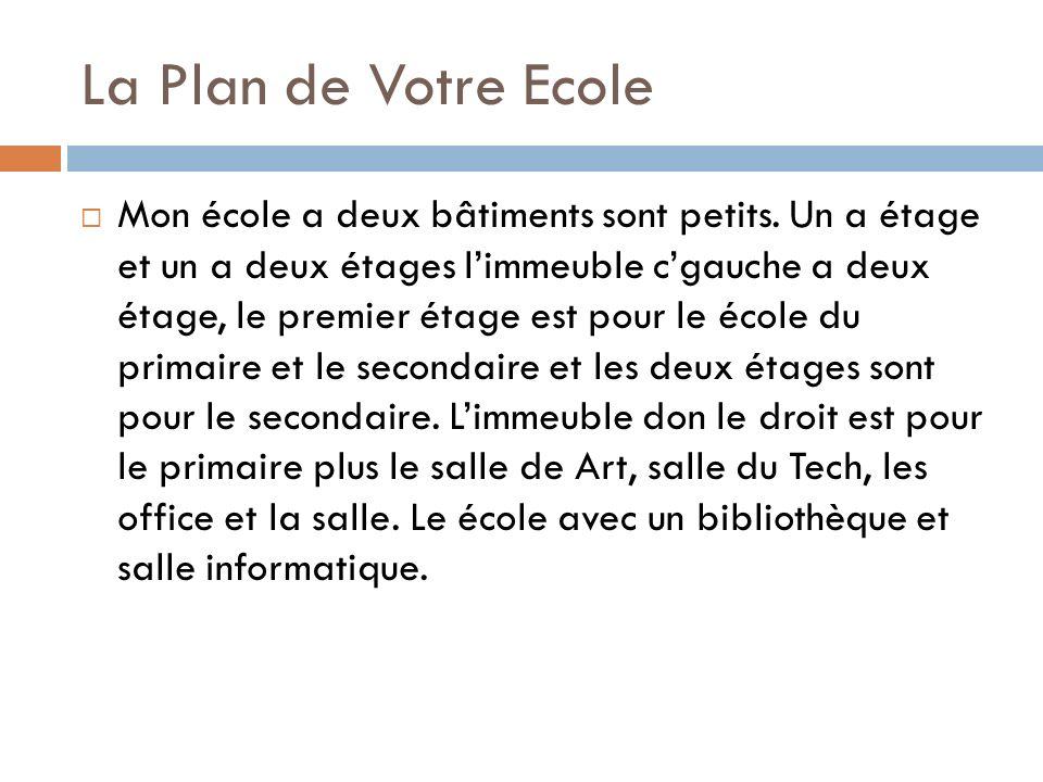 La Plan de Votre Ecole