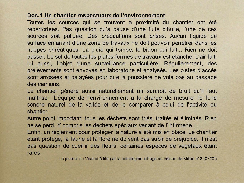 Doc.1 Un chantier respectueux de l'environnement