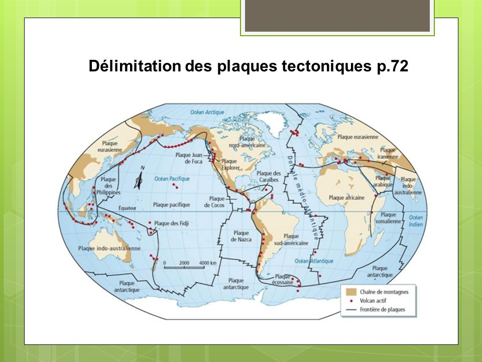 Délimitation des plaques tectoniques p.72
