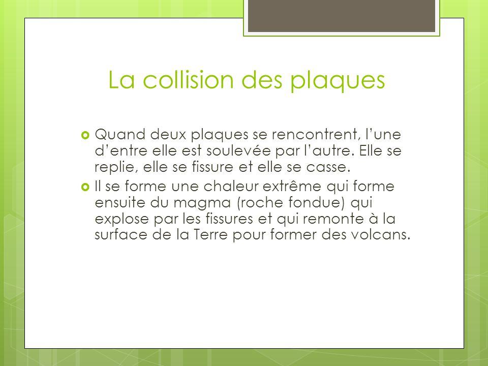 La collision des plaques