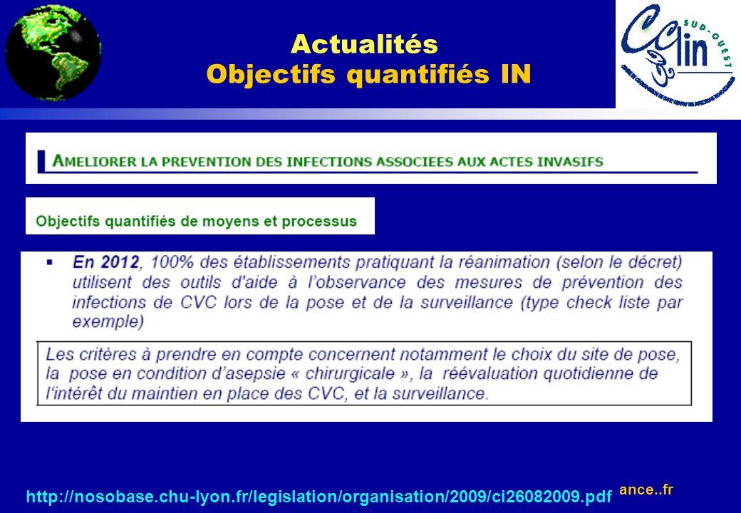 Actualités Objectifs quantifiés IN