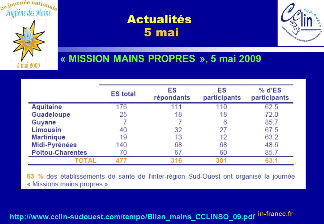 « MISSION MAINS PROPRES », 5 mai 2009