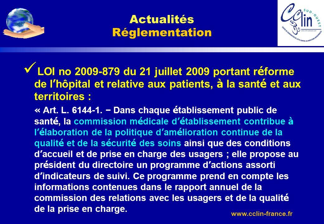 Actualités Réglementation
