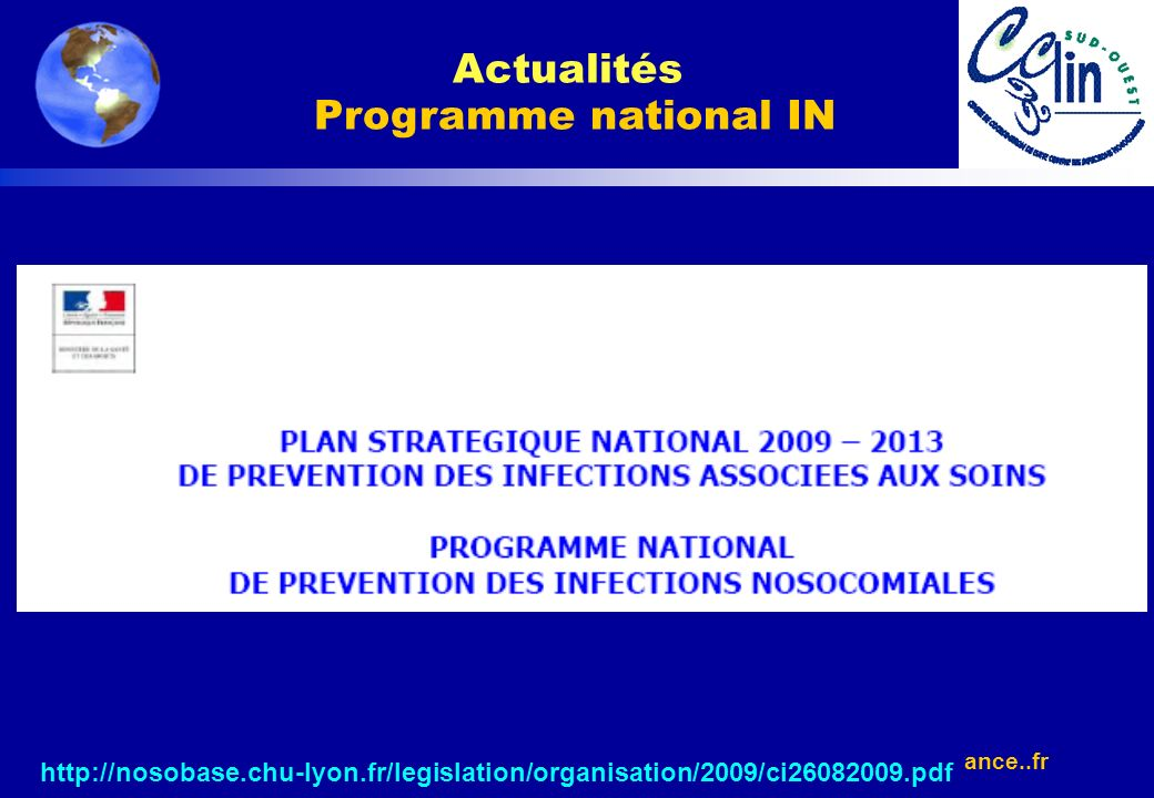 Actualités Programme national IN