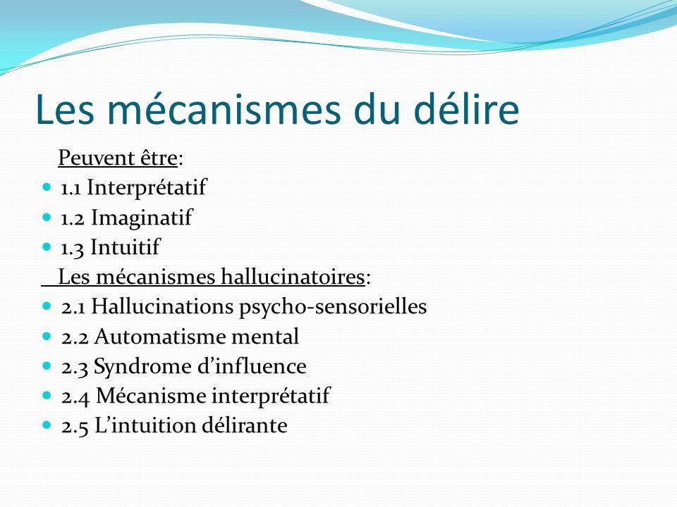 Les mécanismes du délire
