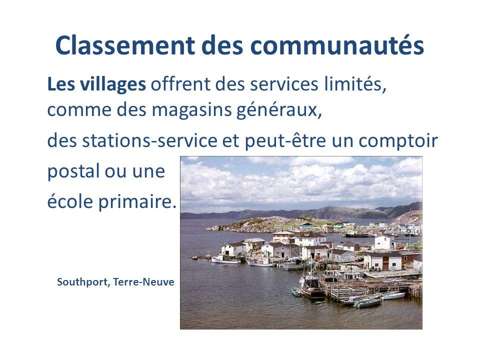Classement des communautés